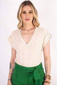 T-shirt Natural Aline Palha