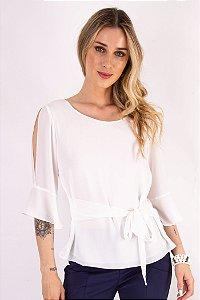 Blusa Emily Petit Crepe Off White