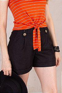 Shorts Caroline - Preto
