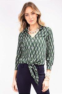 Blusa Laço Green Geometric