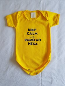 Body KEEP CALM AND RUMO AO HEXA