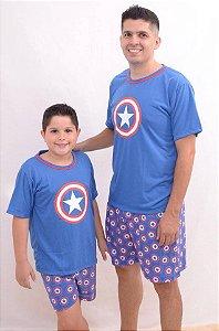 Pijama Pai ou Filho Capitão América