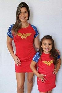 Camisola Mulher Maravilha Mãe Ou filha