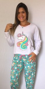 Pijama Inverno Unicornio