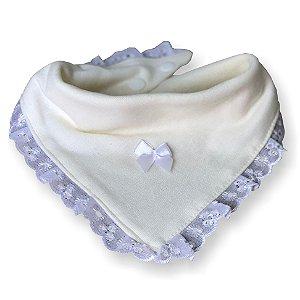 Babador bandana princesa para bebê bege 100% algodão