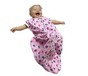 Saco de dormir para bebê em Moletinho CupCake 100% algodão (Meia Estação) *Exclusividade Pipirica*