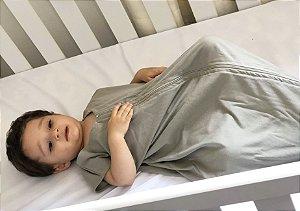 Saco para bebê dormir malha 100% algodão cinza (verão)