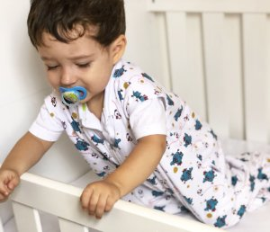 Saco para bebê dormir malha 100% algodão estampado (verão)