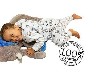 Saco de dormir infantil em malha 100% algodão estampado (verão) pezinho