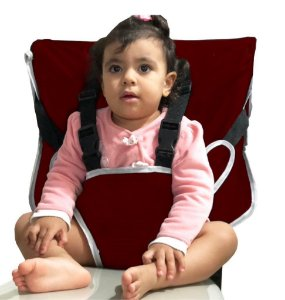 Cadeirinha Assento Portátil para Bebê em Tecido Tactel Vermelho