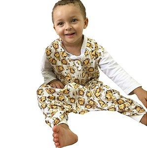 *New* Saco para bebê dormir malha 100% algodão leãozinho (verão) pezinho