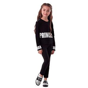 Conjunto infantil Petit Cherie inverno blusa princess com legging