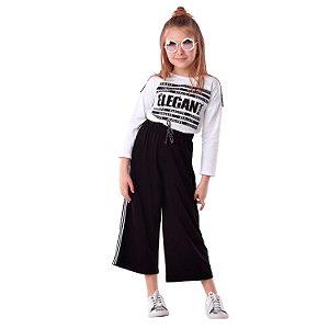 Conjunto infantil Petit Cherie  inverno blusa com calça pantacourt