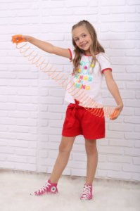 Blusa infantil Mon Sucré verão com pompom colorido