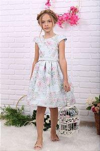 Vestido de festa infantil Petit Cherie jardim encantado floral