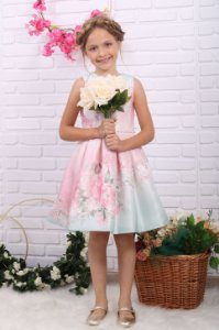 Vestido de festa infantil Petit Cherie jardim encantado rosa verde