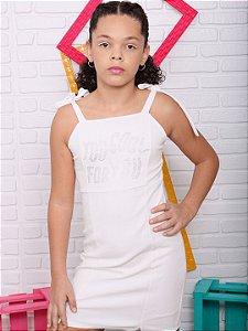 Vestido teen Vanilla Cream justinho off white