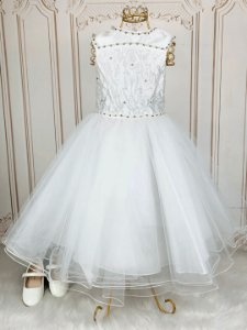 Vestido de festa infantil Petit Cherie daminha tule off white