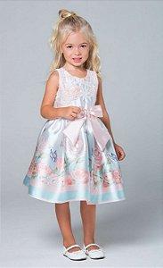Vestido de festa infantil Petit Cherie borboletas jardim encantado Tam 03