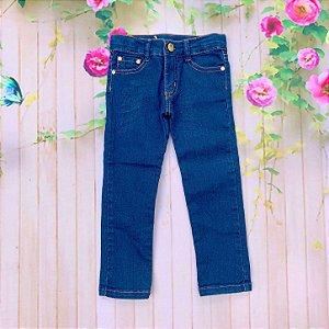 Calça infantil Petit Cherie menina jeans skinny