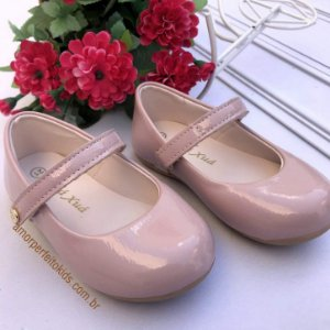Sapato infantil boneca verniz rose