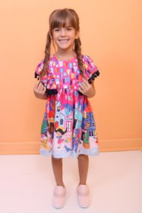 Vestido infantil Mon Sucré arráia festa junina