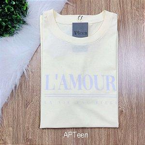 T-Shirt max feminina teen básica Lamour Tamanho P