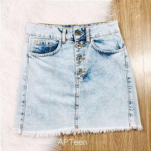 Saia jeans teen botões vintage lavagem média Tamanho 36