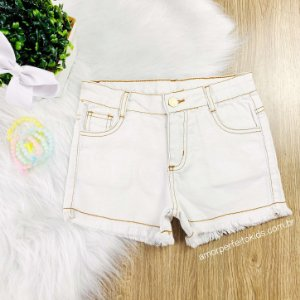 Shorts infantil Mon Sucré jeans claro