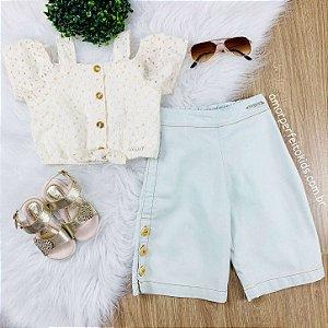 Calça infantil Momi jeans pantacourt