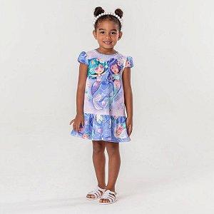 Vestido infantil Mon Sucré casual sereia lilás Tamanho 10