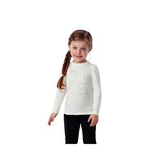 Blusa infantil Petit Cherie inverno manga longa off white