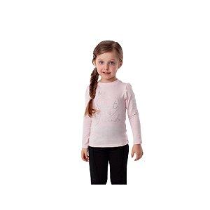 Blusa infantil Petit Cherie inverno manga longa rosa Tamanho 1