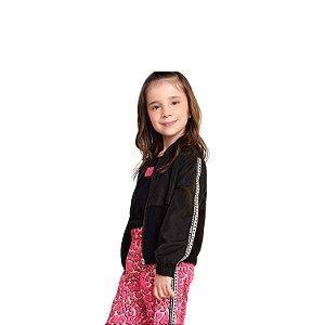 Jaqueta infantil Momi corta vento preto fashion