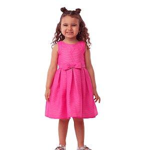 Vestido infantil de festa Mon Sucré rosa pink