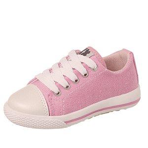 Tênis infantil feminino rosa 21 ao 27 Xuá Xuá