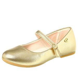 Sapato boneca infantil feminino dourado 28 ao 36 Xuá Xuá