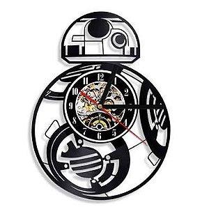 Relógio Vinil Star Wars BB8