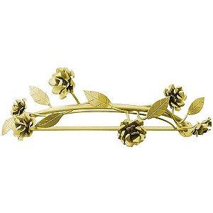 Dossel Lindas Flores com Folhas Douradas