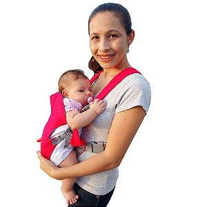 Bolsa Canguru Bebê Vermelho