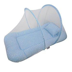 Berço Portátil Mosquiteiro Estrelinha Azul BabyKinha