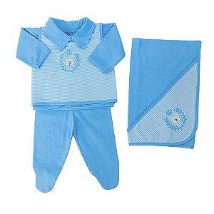 Saída Maternidade Campelo Azul