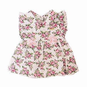 Vestido para Bebê Edjane Rosa Floral