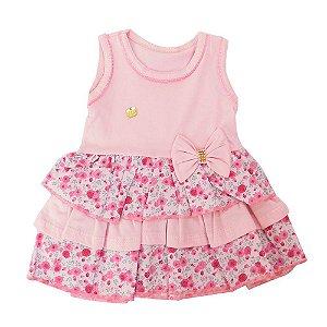 Vestido para Bebê Edila Rosa Floral