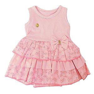 Vestido para Bebê Edila Rosa Tom