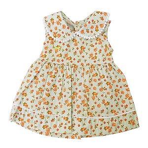 Vestido para Bebê Verde Claro Andreza
