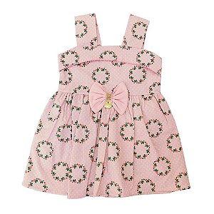 Vestido para Bebê Rosa Seco Missileni