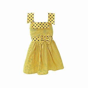 Vestido Infantil Amarelo para Bebê BabyKinha