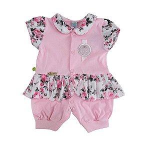 Macaquinho Polo Rosas Dayane Baby