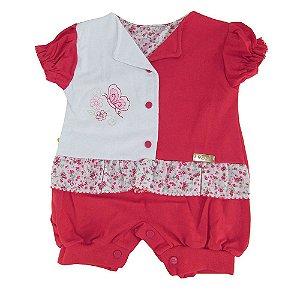 Macaquinho Cheio De Rosas Dayane Baby